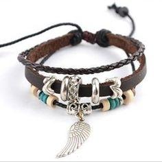Genuine Leather Charm Bracelet