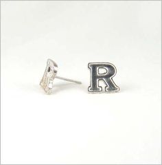 b383d71f94cfd Rutgers University Block R post earrings. Show your team spirit sporting  these all sterling silver Block R earrings.