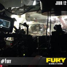 En direct du tank pour le 12ème jour de tournage de #Fury. (Photo Credit: David Ayer)