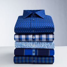 There's no such thing as too many shirts. #bugatchi #shirts #blue