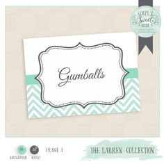 Buffet Labels for candy or dessert buffets. Printable JPEG