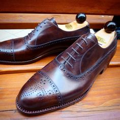 http://chicerman.com  ascotshoes:  Our toe cap Oxford with a distinctive medallion. I   We are an online shoe shop based in the UK that specialise in hand made Vass Shoes. Please email Sammy for no obligation advice on Sizing Fitting Made To Order MTO Stock & Prices. All our Vass shoes are individually hand stitched with the upmost attention to detail and aesthetically finished to meet all client needs. Certain models are available immediately. I  EMAIL- Ascotshoes@outlook.com…