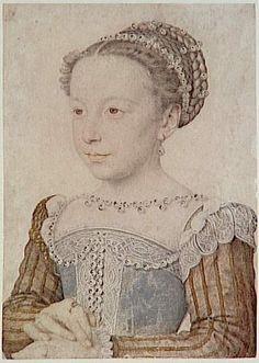 CLOUET François study for a painted portrait of Marguerite de France, Queen de Navarre (1553-1615) Chantilly ; musée Condé