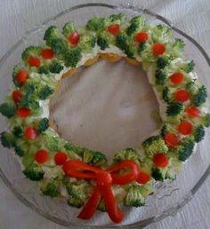 Christmas wreath appetizer