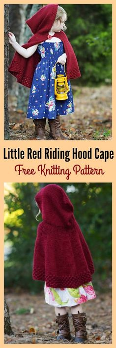 Little Red Riding Hood Cape Free Knitting Pattern