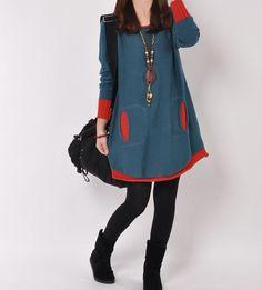 Hey, diesen tollen Etsy-Artikel fand ich bei https://www.etsy.com/de/listing/166833584/dark-blue-cotton-sweater-sweater-dress