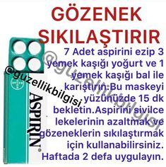 Aspirin, Face Skin, Good To Know, Hair Beauty, Make Up, Skin Care, Masks, Health, Skin Treatments