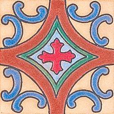 "Spanish Cross, 3X3"" Decorative Insert"