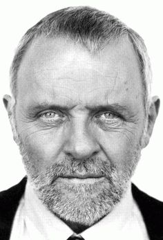 Anthony Hopkins, portrait, black and white, male, actor, fabulous, hot, celeb…
