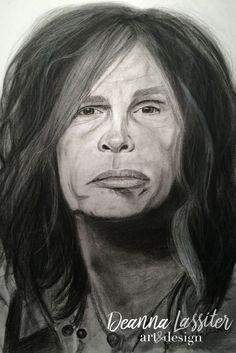 Steven Tyler charcoal portrait