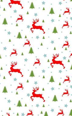 Trees & reindeers ~ background
