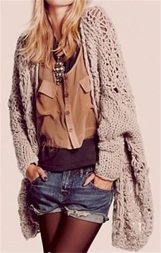 15 Ways to Wear a Chunky Knit Cardigan | Her Campus