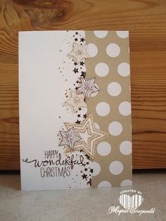 Magical Scrapworld: Stampin Up!, be the star, Christmas card.