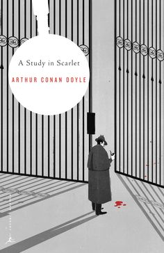 """A Study in Scarlet"" - Cover design by SHOUT for the Modern Library Series."