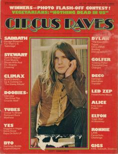 10/75 CIRCUS RAVES magazine  OZZY OSBOURNE cover Bob Dylan Alice Cooper poster