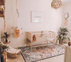 Probably the most reposted nursery pic ever! This nursery is absolutely picture perfect and I'll have one of everything here . Baby Bedroom, Baby Room Decor, Nursery Room, Girl Nursery, Girl Room, Nursery Decor, Bohemian Nursery, Bohemian House, Toddler Rooms
