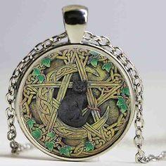 Hoping you will love this new Glass Dome Black ... Check it out! http://catrescue.myshopify.com/products/glass-dome-black-cat-wicca-pentagram-jewelry?utm_campaign=social_autopilot&utm_source=pin&utm_medium=pin