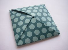 Teal Polka Dots  Origami Decorative Box by CeladonOceans on Etsy