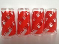 Vintage Glassware Hazel Atlas glassware Red by Prairiegirltreasure, $19.95