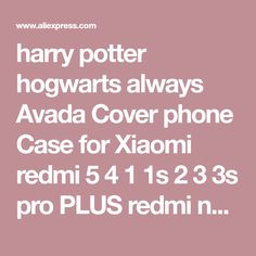 harry potter hogwarts always Avada Cover phone Case for Xiaomi redmi 5 4 1 1s 2 3 3s pro PLUS redmi note 4 4X 4A 5A on sale at reasonable prices, buy harry potter hogwarts always Avada Cover phone Case for Xiaomi redmi 5 4 1 1s 2 3 3s pro PLUS redmi note 4 4X 4A 5A from mobile site on Aliexpress Now!
