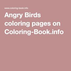 Pin By Marjolaine Grange On Coloriage Angry Birds