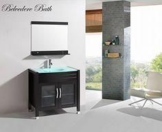 "Belvedere 36"" Single Sink Bathroom Vanity Set with Faucet & Mirror Belvedere http://www.amazon.com/dp/B00QVN4506/ref=cm_sw_r_pi_dp_seI4ub1SNRZGA"