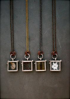 you can put whatever you want inside! Shadow Box Glass Lockets. $32.00, via Etsy.