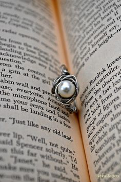 Bird+Nest+One+Egg+Pearl+Ring+by+NaturallyNifty+on+Etsy,+$6.00