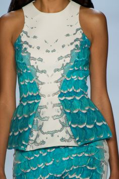 Color & texture to die for! Monique Lhuillier at New York Fashion Week Spring 2013