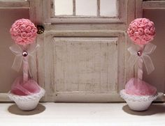 Two miniature topiaries scale 112 dollhouse by LasMInisdeMaini, €20.00