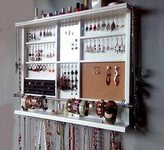Organizador de la joyería. Estante de exhibición de grandes
