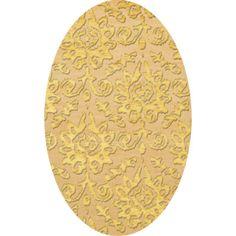 Dalyn Rug Co. Bella Beige/Yellow Area Rug Rug Size: Oval 3' x 5'