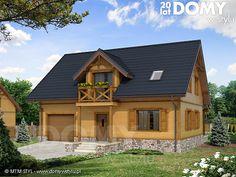 wizualizacja 1 mt arnika 2 dr-s Home Fashion, Future House, Exterior, Cabin, Architecture, House Styles, Building, Design, Home Decor