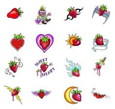 More strawberry tattoo flash.