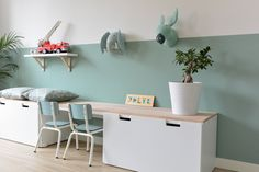 Playroom Inspo made with the STUVA storage solutions from IKEA Studio Binnen Interior Design Ikea Playroom, Playroom Storage, Ikea Kids Room, Trofast Ikea, Deco Kids, Toy Rooms, Baby Boy Rooms, Kid Spaces, Kids Decor