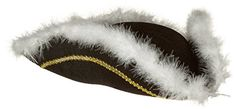 Jacobson Hat Company Mens Permalux Tricorne with Feather Trim Black One Size * Click image for more details.