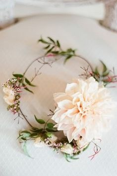 A floral headpiece for maids and mini maids. Too cute