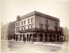 A view from the east of the Chelsea Pensioner public house on the corner of Smith Street and Queen's Road( now Royal Hospital Road)