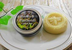 Lotion Bar  Patchouli and Honey Solid Lotion Bar  Handmade