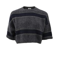 Collection featuring Brunello Cucinelli Sweaters, H&M Tops, and 77 other items Cropped Pullover, Cropped Sweater, Pullover Sweaters, Cropped Tops, Loose Sweater, Men Sweater, Navy Blue Crop Top, Navy Blue Shirts, Navy Tops