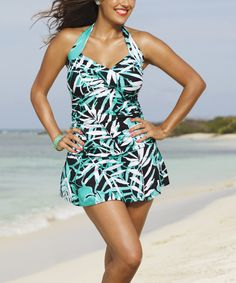 e743d7cde Another great find on  zulily! Green Shore Club Palm Cove Halter Swimdress  - Women