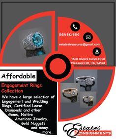 @estatesconsignments has a large collection of #Engagement and #Wedding_Rings, #Diamonds, #Gems and many more.