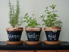 I could make these with chalkboard paint