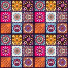Pattern form Mandala Art Print by jsebouvi Mandala Art, Mandalas Painting, Mandala Pattern, Dot Painting, Pattern Art, Pattern Design, Indian Mandala, Pattern Flower, Mandala Wallpaper