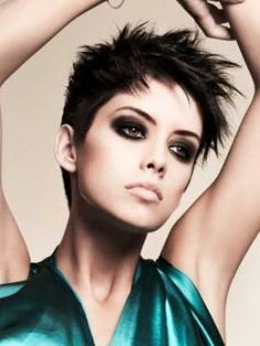 Beautiful Photo of Short Thick Pixie Hair Styles Close up View, Take a Look. http://shorthaircutswomen.com/pixie-haircuts-for-thick-hair/