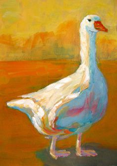 Goose a farm animal Painting by Patricia Awapara - Goose a farm animal Fine Art Prints and Posters for Sale