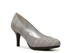 Kelly & Katie Dorotha Striped Fabric Platform Pump - had these in camel, and they are really comfy!   This grey/black looks versatile - got them too!