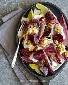 Beet & burrata endive salad