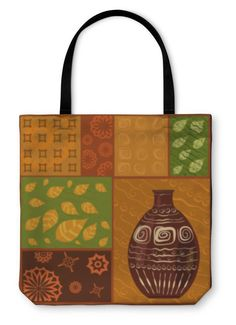 Tote Bag, African Abstract Pattern With A Vase Pattern Art, Abstract Pattern, Recycled Paper Crafts, Polish Folk Art, African Attire For Men, 365days, Corgi Dog, Courses, Custom Art