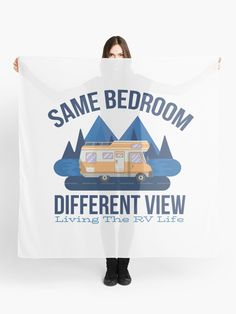 Same Bedroom Different View Living the RV Life Scarf.  Live the RV Life by driving your camper to a new site every night.  Who says you have to wake up to the same view every day.  Find the great outdoors and live off the grid.  Experience the outdoors and living in nature.  #rv #rvliving #motorhome #camping #outdoors #camper #getoutside #campvibes #giftideas #fashion #onlineshopping #artsandcrafts #redbubble #art #redbubblecommunity #redbubbleshop #ad #findyourthing @redbubble… News Sites, Camping Outdoors, Rv Life, Rv Living, Get Outside, Different, Motorhome, The Great Outdoors, New Zealand